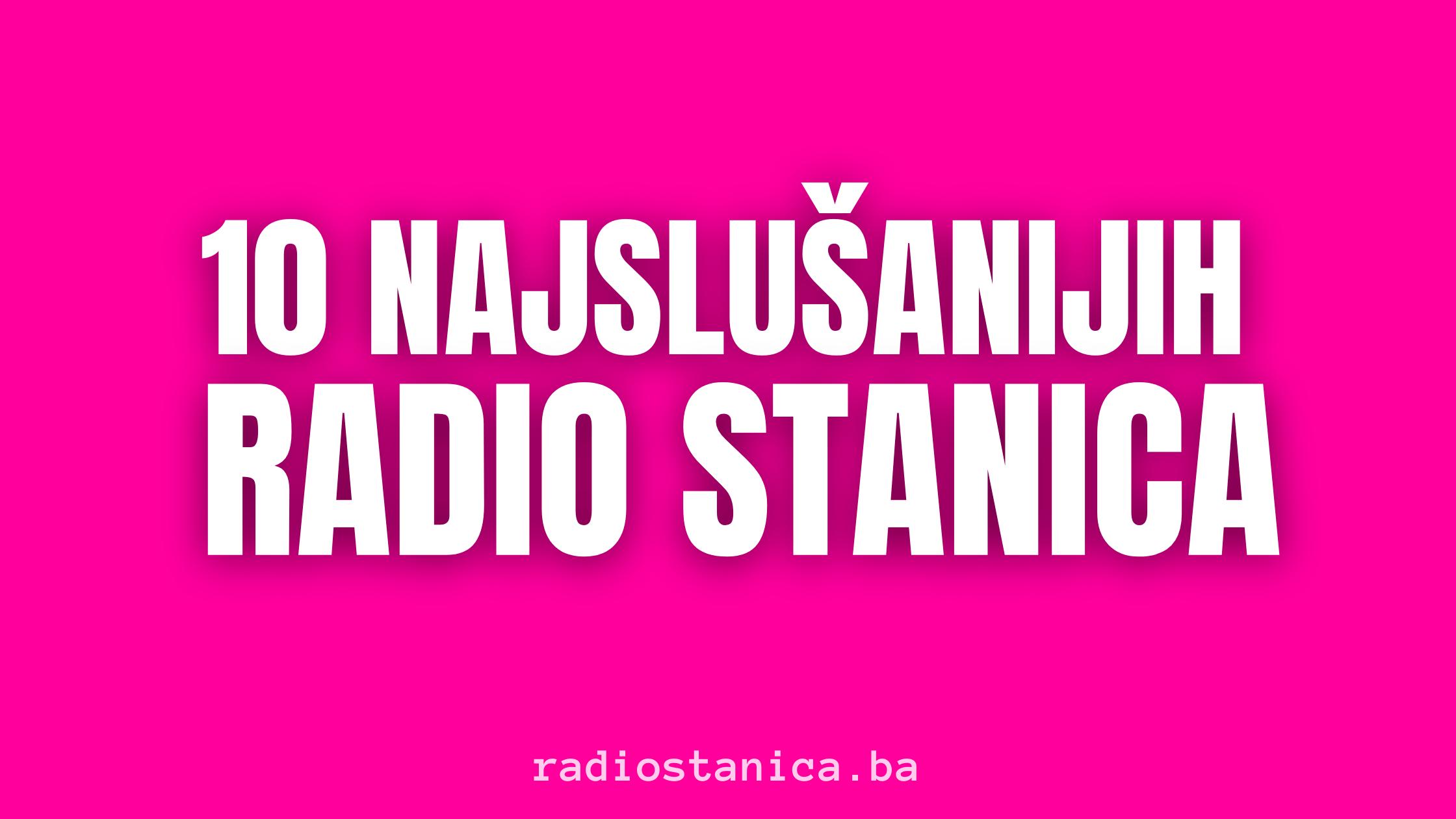 10 Naslusnijih Radio Stanica