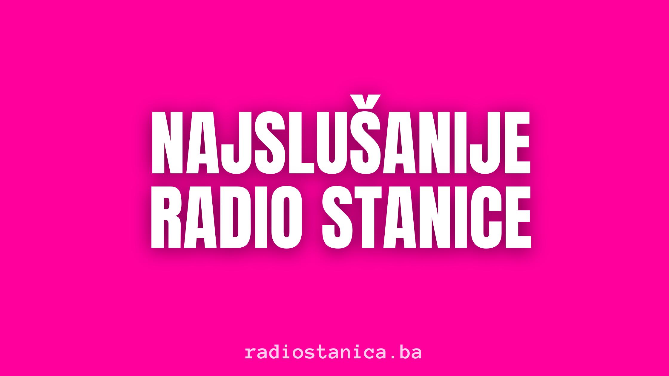 Najslusanije Radio Stanice Radio Ostra Luka